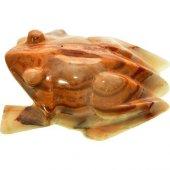 Doğal Gerçek Yeşil Onix Taşı El İşi Oyma Kurbağa Biblo