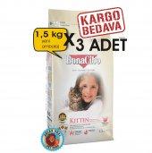 Bonacibo Kitten Yavru Kedi Maması 1.5 Kg x 3 Orjinal Paket