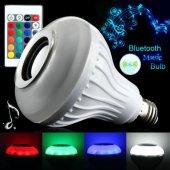 Bluetooth Hoparlörlü Akıllı LED Ampül Renkli-2