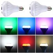 Bluetooth Hoparlörlü Akıllı LED Ampül Renkli-3