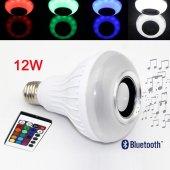 Bluetooth Hoparlörlü Akıllı LED Ampül Renkli-4