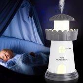 Deniz Feneri Hava Nemlendiricili Gece Lambası Buhar Makinesi-4