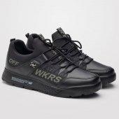 Wickers Erkek Spor Ayakkabı Siyah Günlük Ortapedik Taban