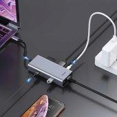 Baseus Square Desk Type-C Multi-Functional Hub Usb 3.0*2 RJ45-4
