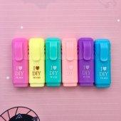Fosforlu Mini İşaretleme Kalem 6'lı Paket