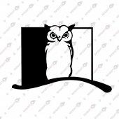 Gecenin Bekçisi Baykuş Dekoratif Lazer Kesim Metal Tablo 50x70