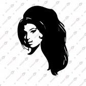 Amy Winehouse Dekoratif Lazer Kesim Metal Tablo 63x90