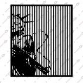 özgürlük Heykeli Dekoratif Lazer Kesim Metal Tablo 74x82