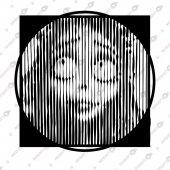 Kuş Kadın Lıne Art Dekoratif Lazer Kesim Metal Tablo 72x72