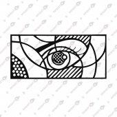 Göz Dekoratif Lazer Kesim Metal Tablo 40x85