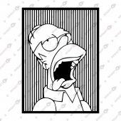 Homer Simpson Dekoratif Lazer Kesim Metal Tablo 65x90