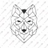 Geometrik Kurt Figürü Dekoratif Lazer Kesim Metal Tablo 50x70