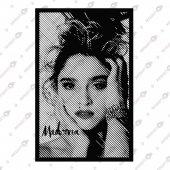 Lıne Art Madonna Dekoratif Lazer Kesim Metal Tablo 59x92