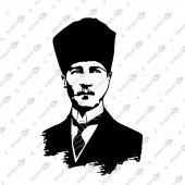 ULU ÖNDER  ATATÜRK PORTRE  DEKORATİF LAZER KESİM METAL TABLO 46x71