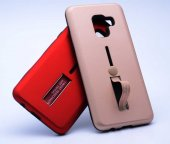 Galaxy A8 Plus 2018 Kılıf Zore Olive Standlı Kapak-9