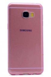 Galaxy C5 Kılıf Zore Ultra İnce Silikon Kapak 0.2 mm