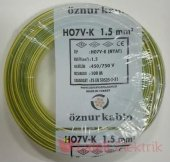 öznur Bakır 1,5 Nya Kablo Sarı Yeşil 100 Metre