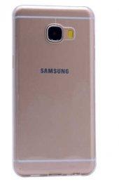 Galaxy C7 Kılıf Zore Ultra İnce Silikon Kapak 0.2 mm-3