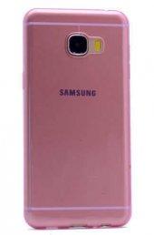Galaxy C7 Kılıf Zore Ultra İnce Silikon Kapak 0.2 mm-4