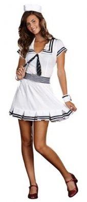 Yetişkin Bayan Denizci Kostümü