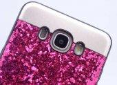 Galaxy J7 2016 Kılıf Zore Metal Simli Kapak-2