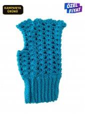 Eldiven Kışlık Bayan Eldiveni El Yapımı Mavi...