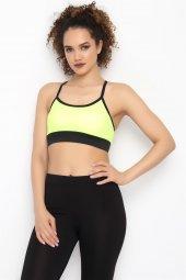 Aurafit 9021 5 Askılı Bayan Büstiyer Neon Sarı