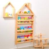 Montessori Çocuk Odası Eğitici Kitaplık Terek...