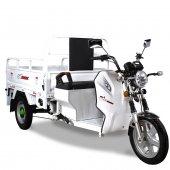 Stmax Gf500 Elektrikli Kasalı Motosiklet Beyaz
