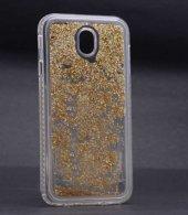 Galaxy J730 Pro Kılıf Zore Sıralı Taşlı Sıvılı Silikon