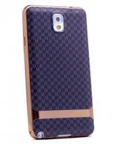 Galaxy Note 3 Kılıf Zore Deri Lazer Kaplama Silikon-10