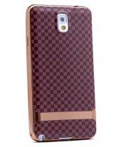 Galaxy Note 3 Kılıf Zore Deri Lazer Kaplama Silikon-12