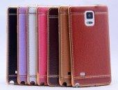 Galaxy Note 4 Kılıf Zore Deri Lazer Kaplama Silikon-5