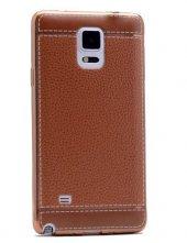 Galaxy Note 4 Kılıf Zore Deri Lazer Kaplama Silikon-10