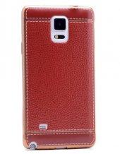 Galaxy Note 4 Kılıf Zore Deri Lazer Kaplama Silikon-11