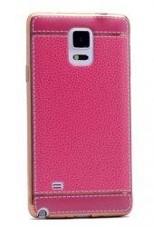 Galaxy Note 4 Kılıf Zore Deri Lazer Kaplama Silikon-12