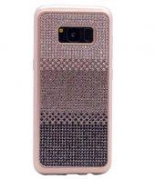 Galaxy S8 Kılıf Zore Mat Lazer Taşlı Silikon