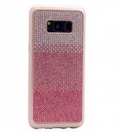 Galaxy S8 Kılıf Zore Mat Lazer Taşlı Silikon-4