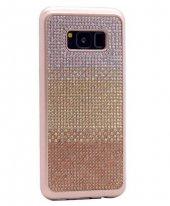 Galaxy S8 Kılıf Zore Mat Lazer Taşlı Silikon-5