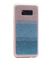 Galaxy S8 Kılıf Zore Mat Lazer Taşlı Silikon-6