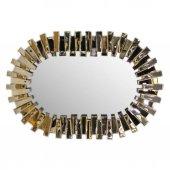 Fidex Home Lüks Piyano Modern Elips Büyük Ayna 118cm Bronz-2