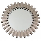 Fidex Home Lüks Piyano Modern Yuvarlak Büyük Ayna 104cm Bronz
