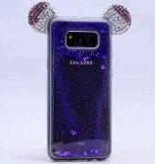 Galaxy S8 Plus Kılıf Zore Micky Taşlı Sıvılı Silikon-3
