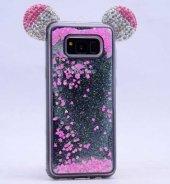 Galaxy S8 Plus Kılıf Zore Micky Taşlı Sıvılı Silikon-5
