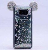 Galaxy S8 Plus Kılıf Zore Micky Taşlı Sıvılı Silikon-6
