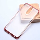 Huawei Mate 10 Lite Kılıf Zore Tek Sıra Taşlı Silikon-6
