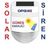 Opax BGR-22 Güneş Enerjili ( Solar ) Kablosuz Harici Alarm Sireni