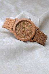 Watchart Ahşap Desenli Metal Kordon Unisex Kol Saati W154353