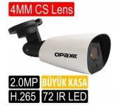 OPAX-25307 2 mp 4mm Sony Lens H.265 72 IR Led IR Bullet IP Kamera