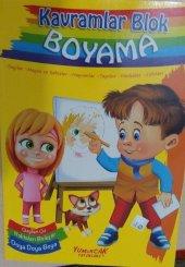 Kavramlar Blok Boyama - Yumurcak Yayınları - Kalın Boyama Kitabı